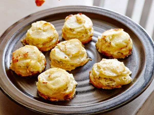 Potato AuGratin in Muffin Tin