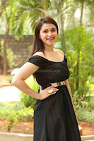 Mannara Chopra in Short Off Shoulder Black Dress ~  Exclusive 051.JPG