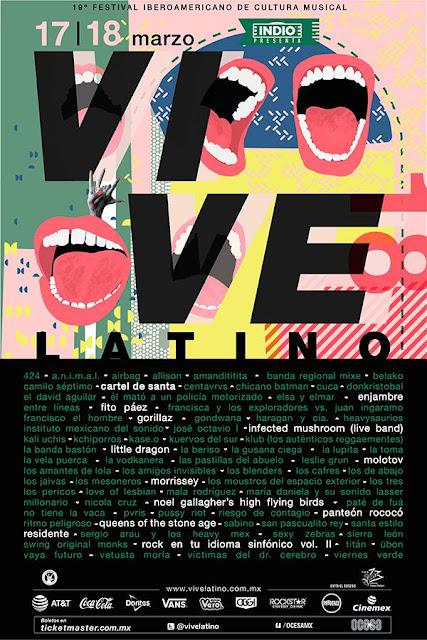 artistas vive latino 2018