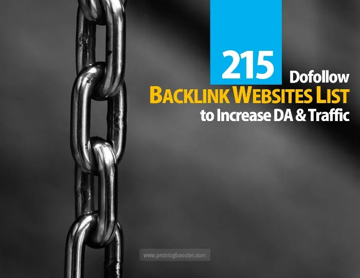 Backlink Websites List