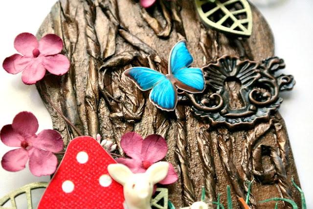 Paper Bag Bark on Fairy Door Arch by Dana Tatar for Tando Creative