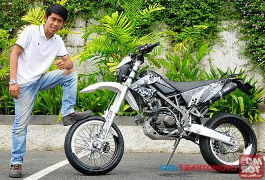 Cara Modifikasi Motor Kawasaki KLX 150 Supermoto Multifungsi