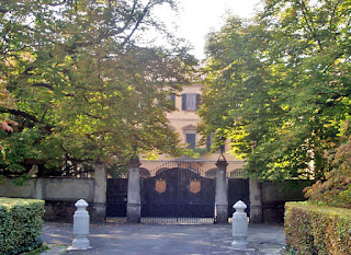 Silvio Berlusconi's palatial home at Arcore, the Villa San Martino, which he bought in 1974