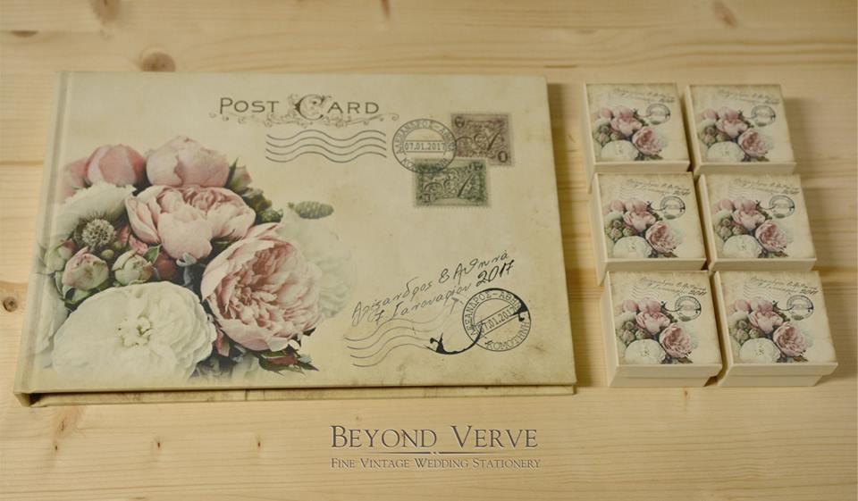 16ae540c93d0 Beyond Verve  Vintage χειροποίητα προσκλητήρια γάμου σε στυλ καρτ ...