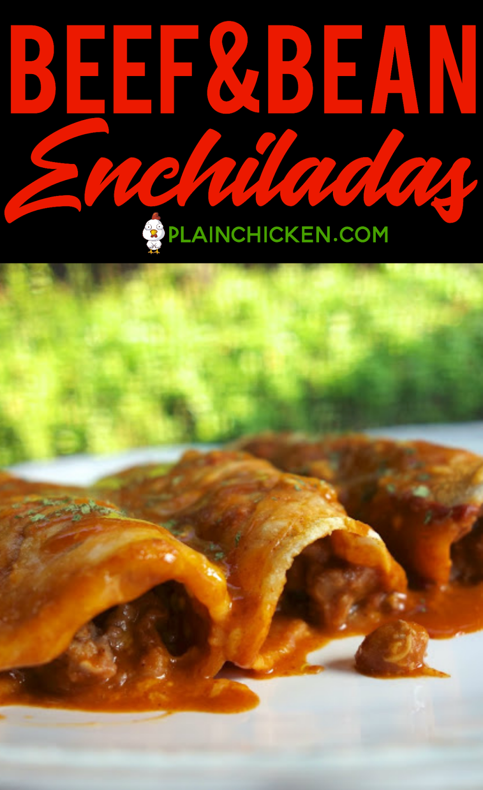 Beef and Bean Enchiladas - quick and easy weeknight meal!! Corn tortillas filled with beef and cheese and topped with enchilada sauce. Ground beef, onions, refried beans, taco seasoning, enchilada sauce, corn tortillas and cheddar cheese. Can make ahead of time and freeze for later! #mexican #enchiladas #freezermeal #easydinnerrecipe