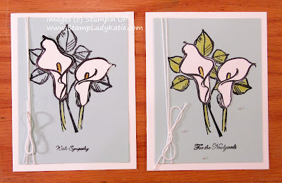 Card made with the Calla Lilies from Stampin'UP!'s Remarkable You Stamp set.