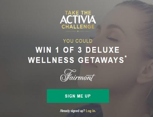 Activia Challenge Fairmont Getaway Contest