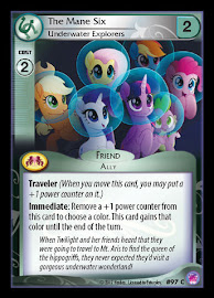 My Little Pony The Mane Six, Underwater Explorers Seaquestria and Beyond CCG Card