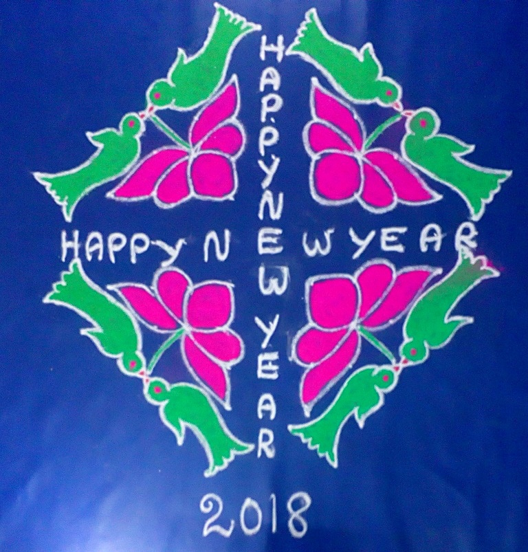 Happy New Year Rangoli 69