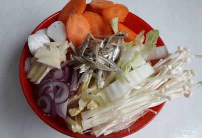 Resepi, Menu Untuk Ibu Mengandung, resepi sayur campur, fiber, serat, nutrisi, ibu hamil, Hb rendah, cendawan enoki,