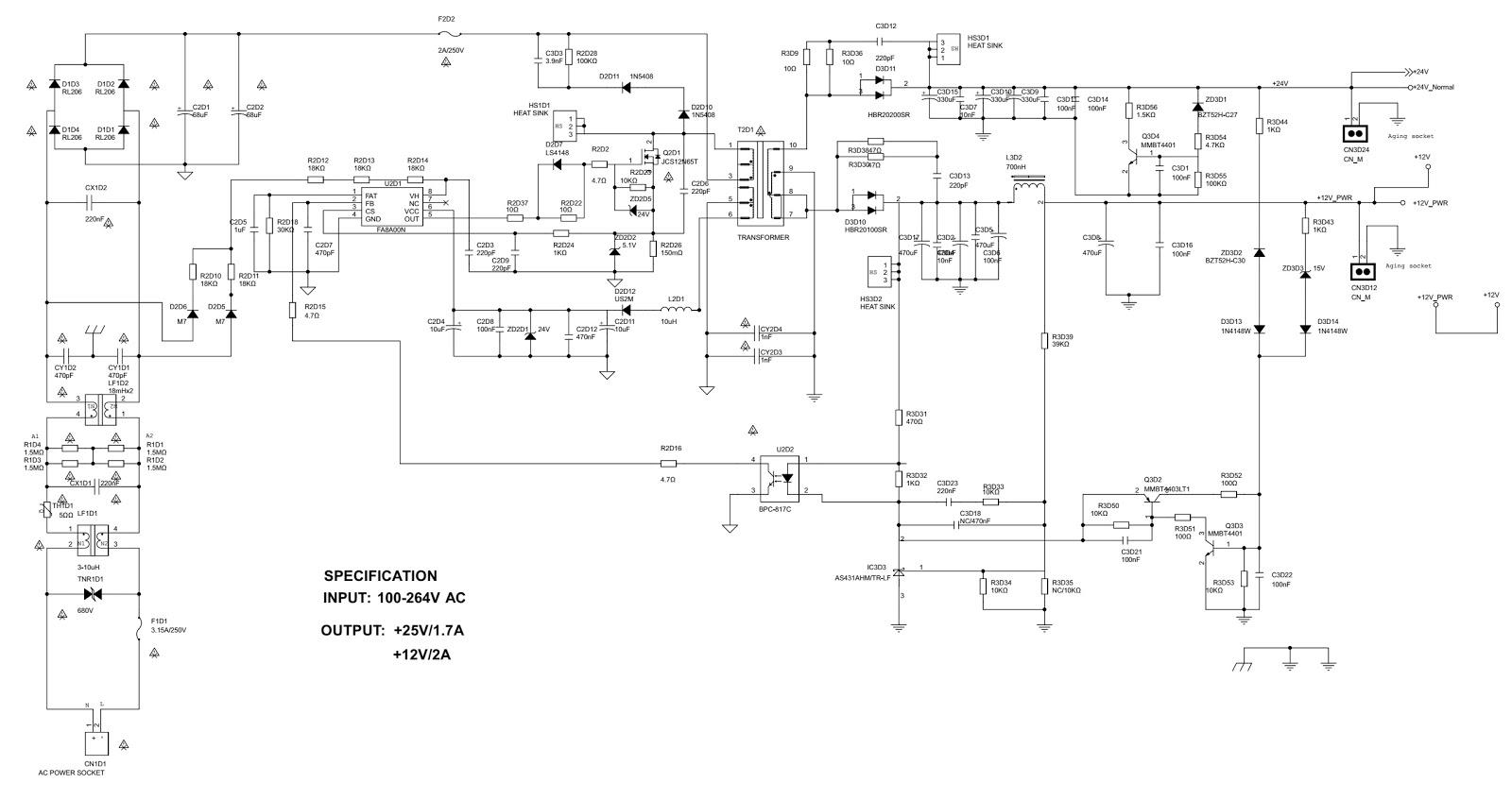 philco ph39e31 39 inch led lcd tv power board circuit diagram schematic  [ 1600 x 847 Pixel ]