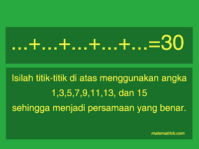 Teka Teki Matematika Sederhana Matematrick