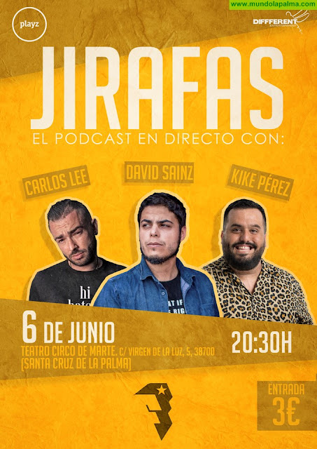 David Sainz graba el penúltimo 'podcast' de la segunda temporada de 'Jirafas' en el marco del Festivalito