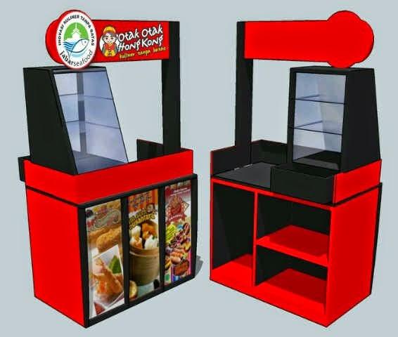 contohcontoh desain buat display gerobak  booth