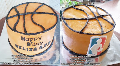 Birthday Cake Basket NBA