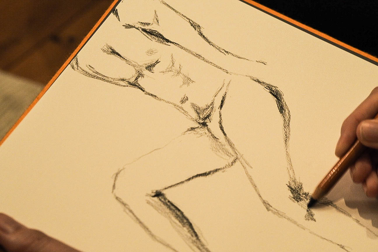Life drawing class sketches
