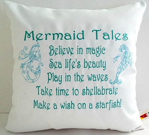 Mermaid Quote Pillow Covers