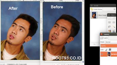 Menggantengkan foto menggunakan GIMP