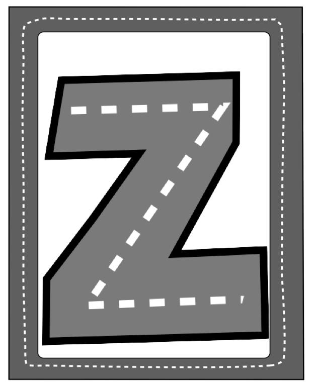 Highway Alphabet Cards ~ Preschool Printables