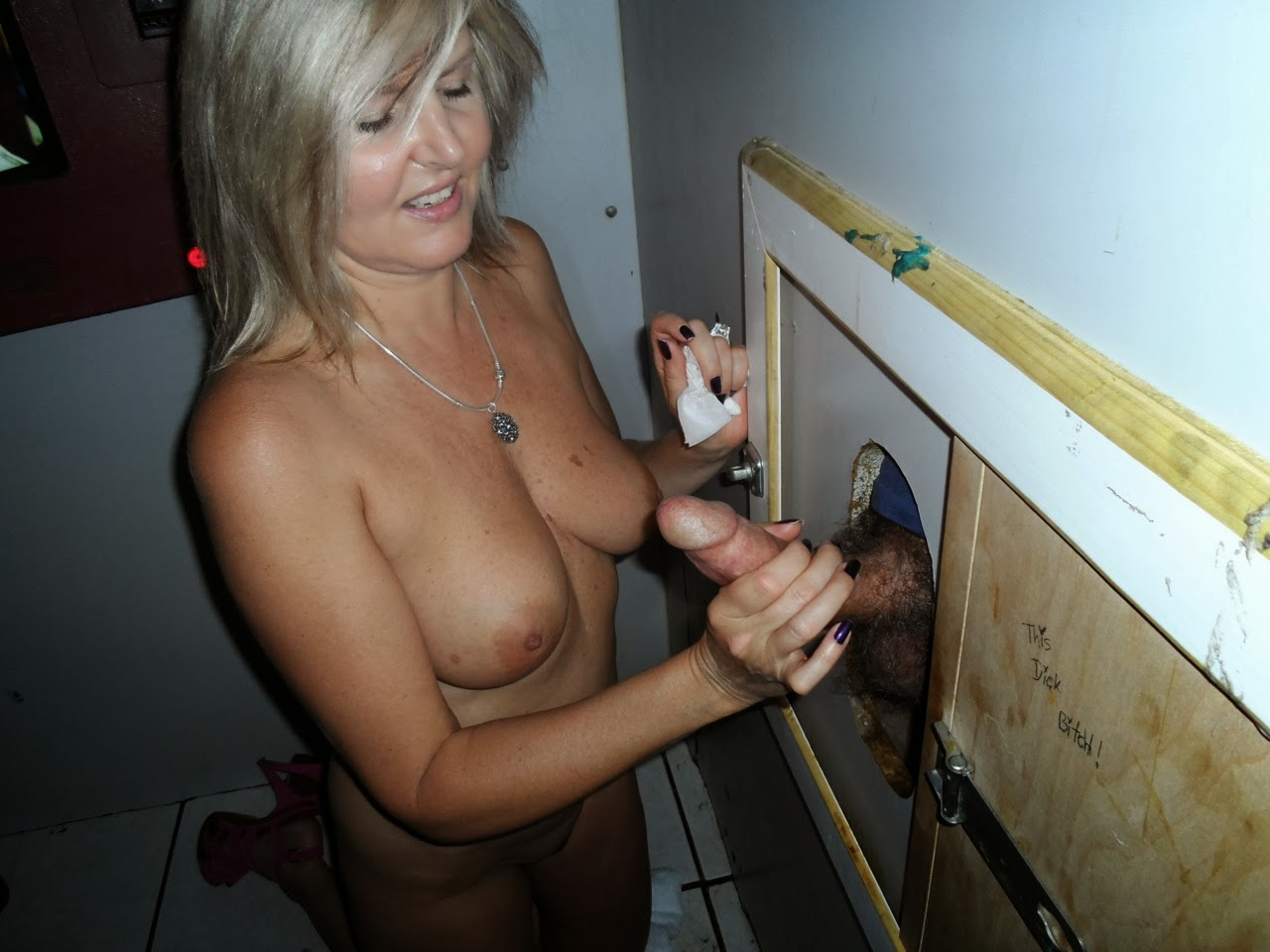 Amatuer milf glory hole slut