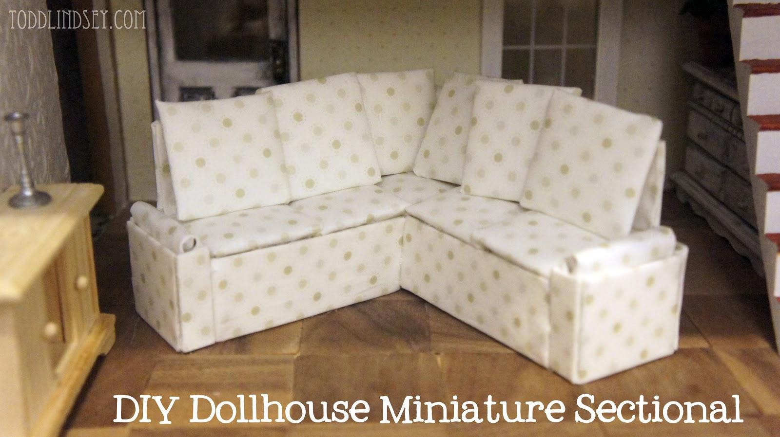 dollhouse miniature sectional sofa flip bed gus modern domer home diy