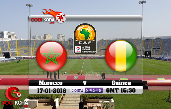 مشاهدة مباراة المغرب وغينيا اليوم 17-1-2018 بطولة أفريقيا للاعبين المحليين