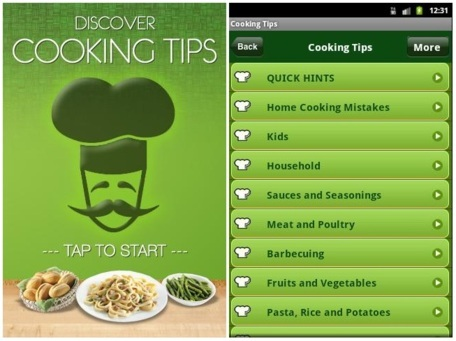 Buy Cooking Tips Android App Source Code | Download iPhone/Android