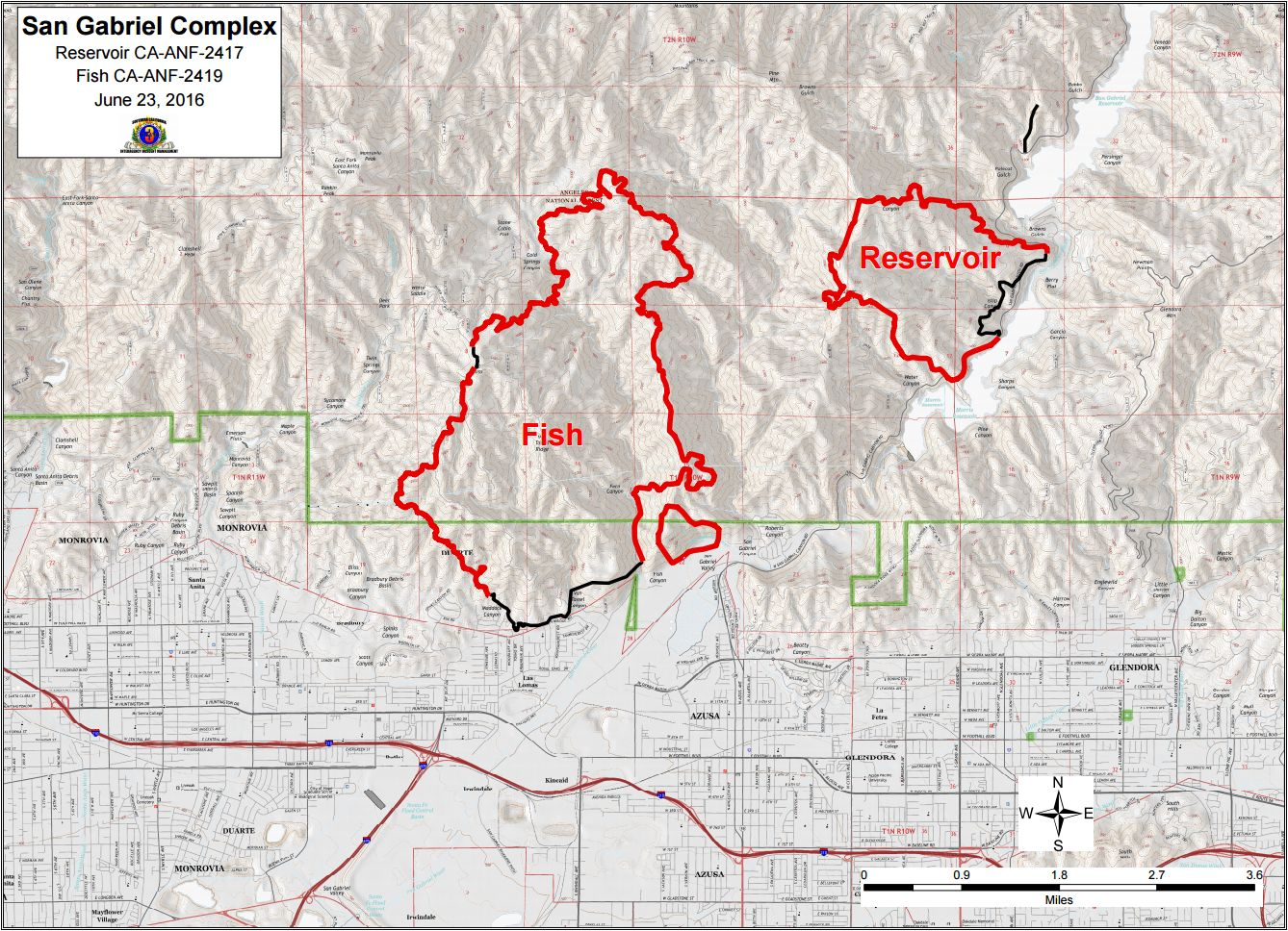 Azusa Canyon Fire Map.Cfn California Fire News Cal Fire News Ca Anf San Gabriel
