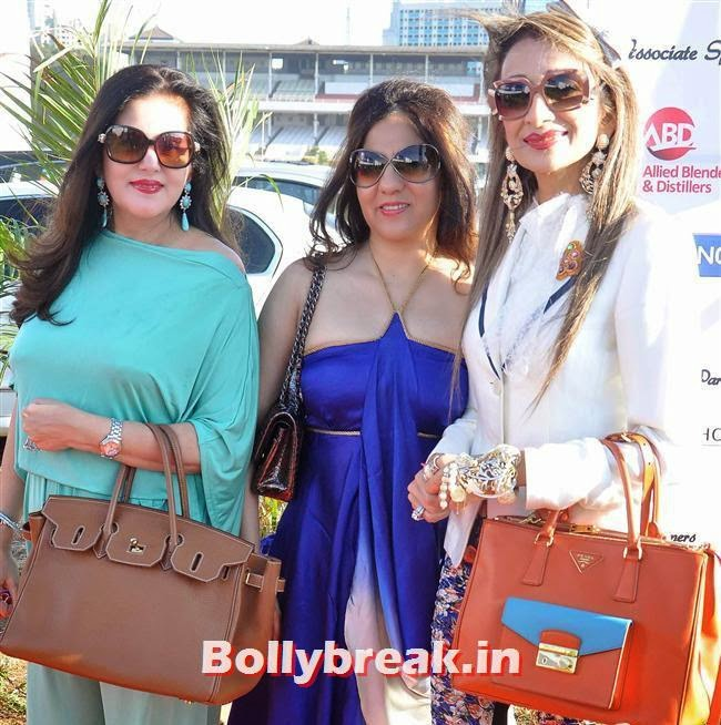 , Manasi Scott, Saidah Jules at Yes Bank International Polo Cup 2014