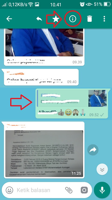 Cara Mengetahui Orang Yang Membaca Pesan Kita di Grup WhatsApp
