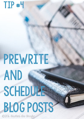 Blogger tip: Schedule posts! Work on them when you have time, save those drafts, and then schedule them when all polished!