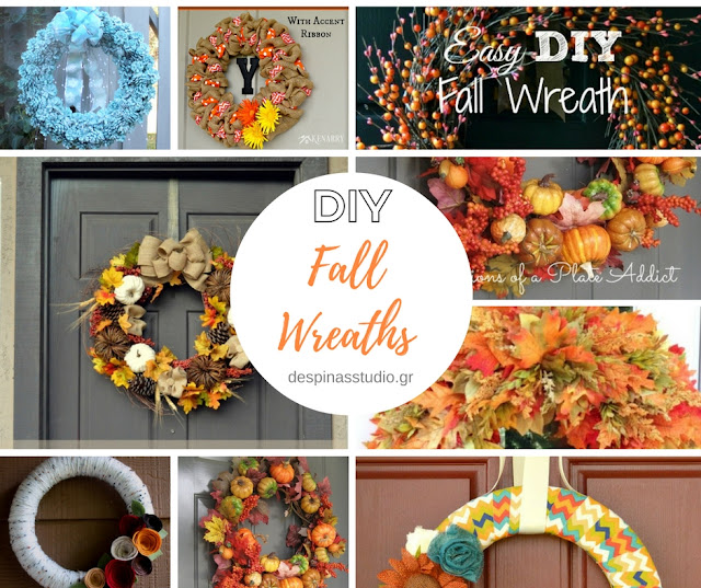DIY Fall Wreath tutorials / DIY Φθινοπωρινά Στεφάνια με οδηγίες