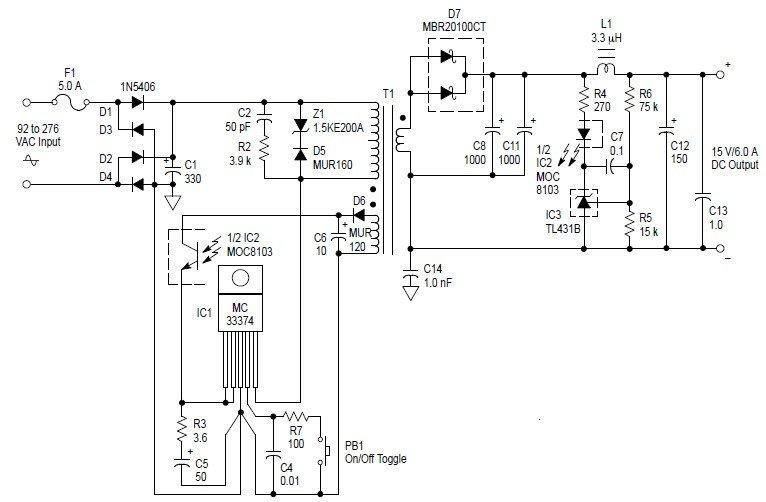 ac to dc 90 watt switching adaptor