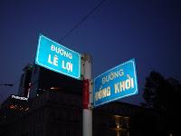 Confluence Le Loi Street e Dong Khoi. Saigon (Vietnam)