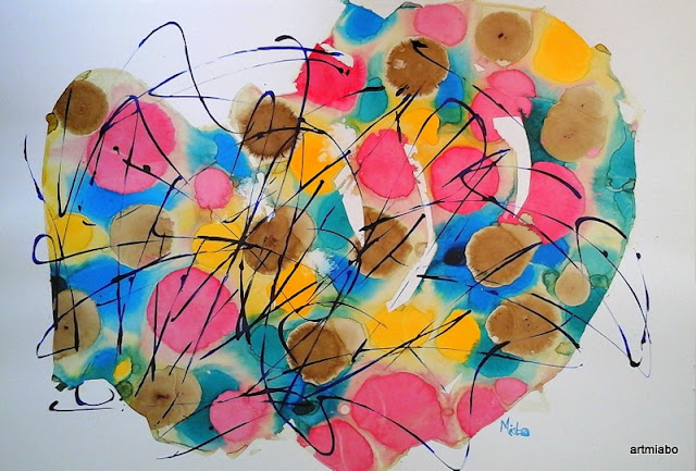 Abstract Art, Maze painting by Miabo Enyadike