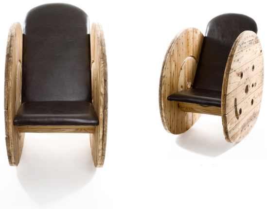 This unique rocking chair is an awesome statement piece for your home