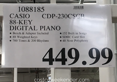 Deal for the Casio CDP-230 88-Key Ensemble Digital Piano at Costco