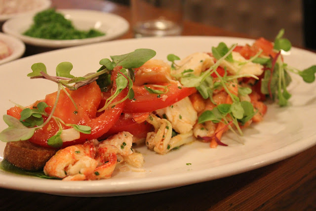 Lobster caprese salad