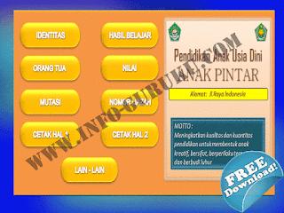 Download Aplikasi Buku Induk Siswa PAUD Format Excel