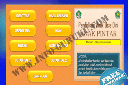 Download Aplikasi Buku Induk Siswa 2016 TK,PAUD,SD,MI,SMP,MTs,SMA,SMK,MA