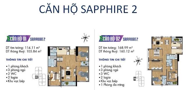 Căn hộ số 01, 02 tòa Sapphire 2- Goldmark City