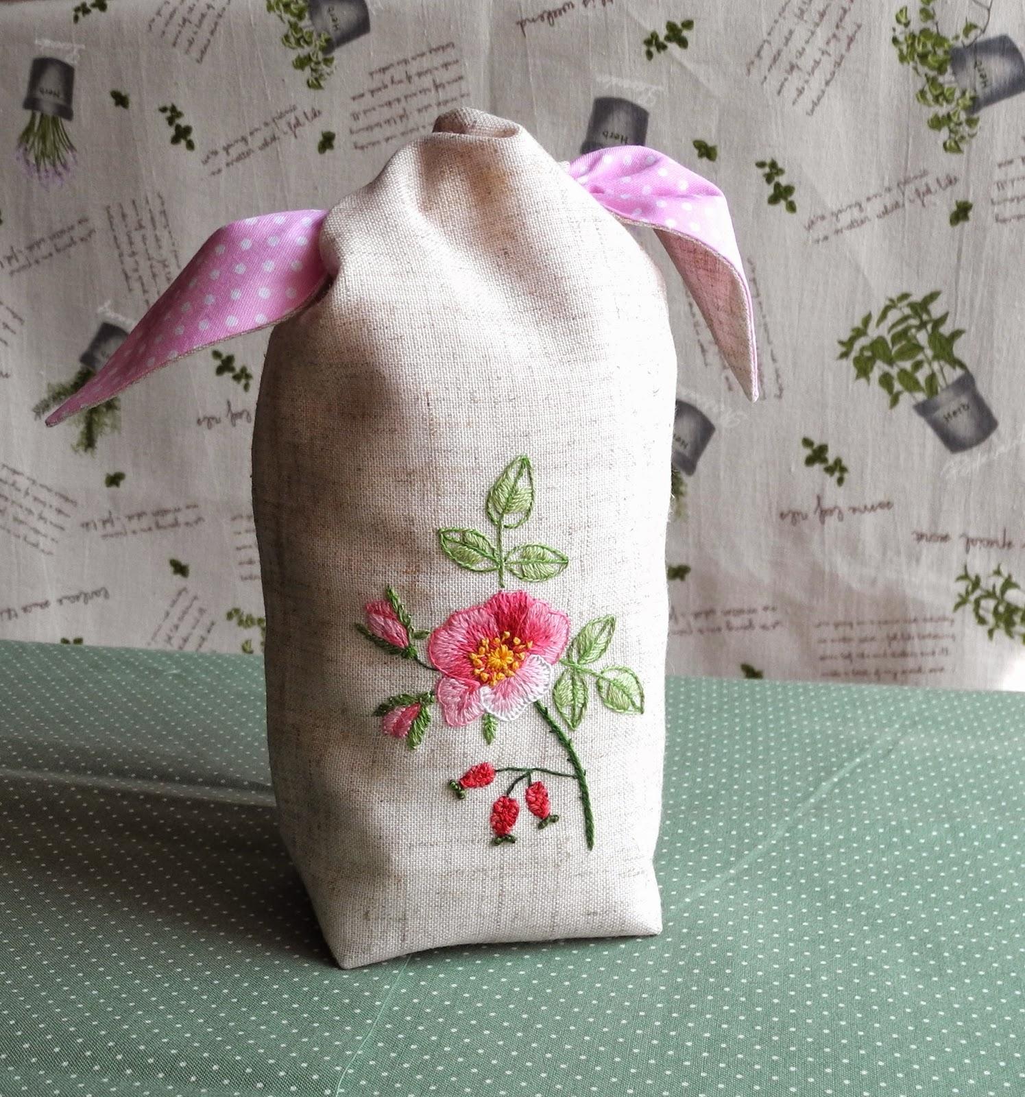 японская вышивка, мешочек