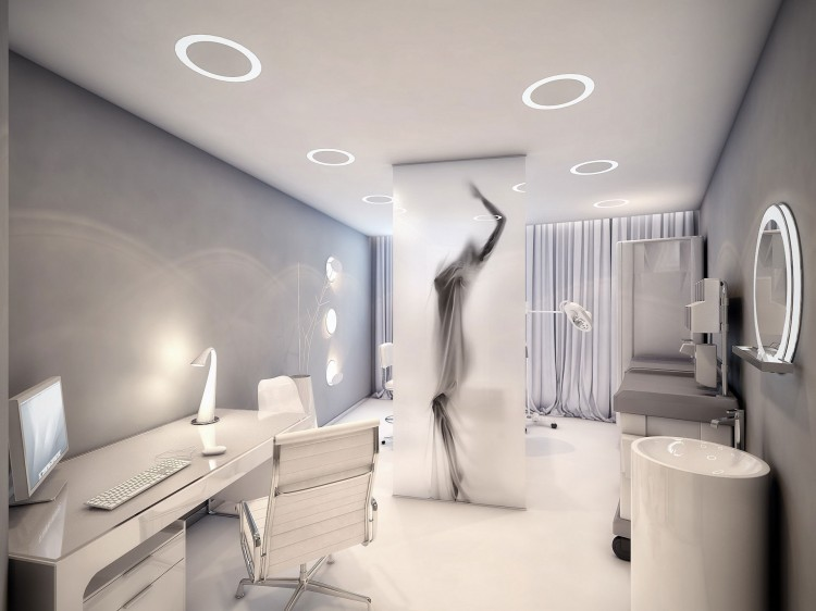 Uma cl nica de est tica na r ssia design innova for Clinic interior designs