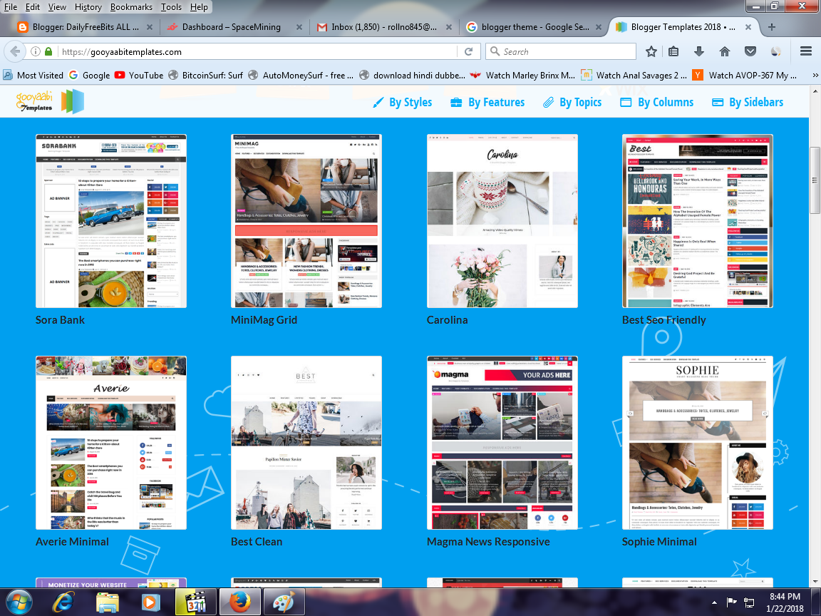 Blogger Templates New Free Download   DailyFreeBits ALL Facuet Site ...