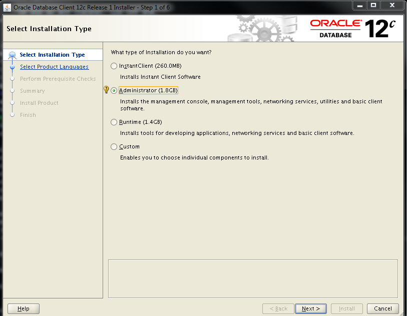 ORACLE, MySQL, POSTGRES BOARD: Oracle 12c Linux client 64