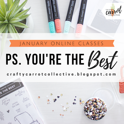 Crafty Carrot Collective online craft classes January 2019