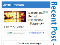 Cara Memasang Widget Recent Post + Iklan Infeed Di Blogger