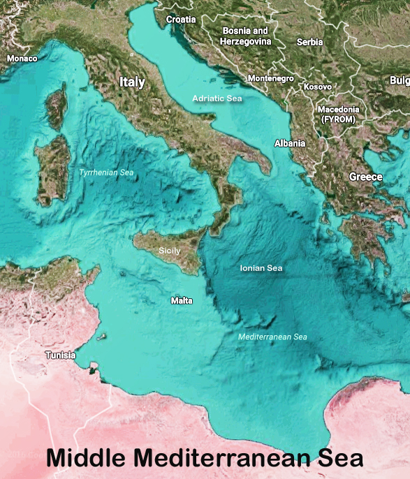 Map Of The Mediterranean Sea | All Five Oceans