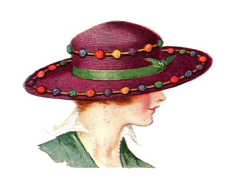 Antique Images: Vintage Hat Fashion: Edwardian Women's Hat ...  |Vintage Hat Art