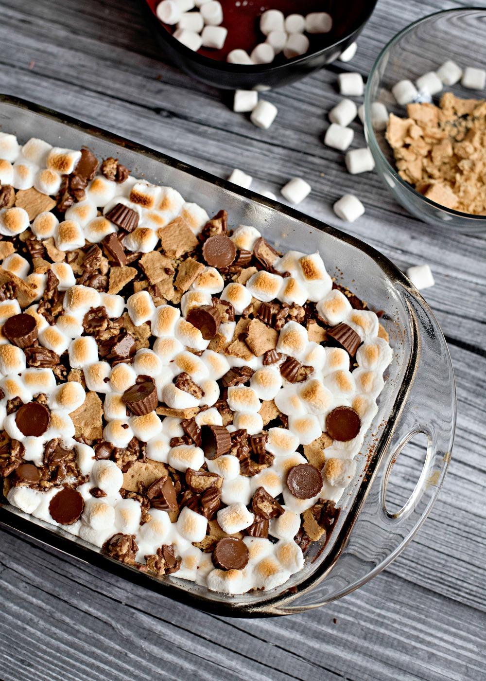peanut butter s'mores bars recipe